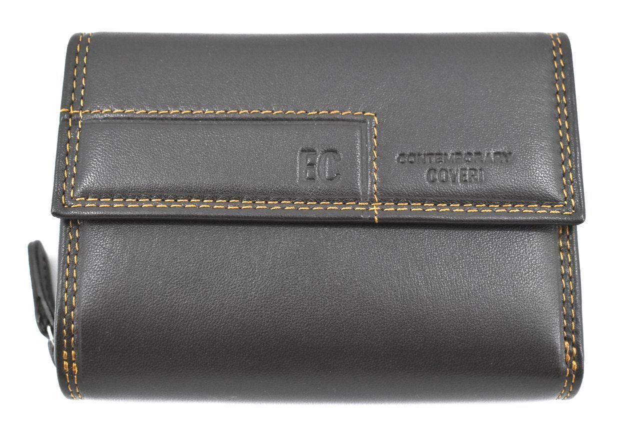 Dámská kožená peněženka Coveri - tmavě hnědá 37100
