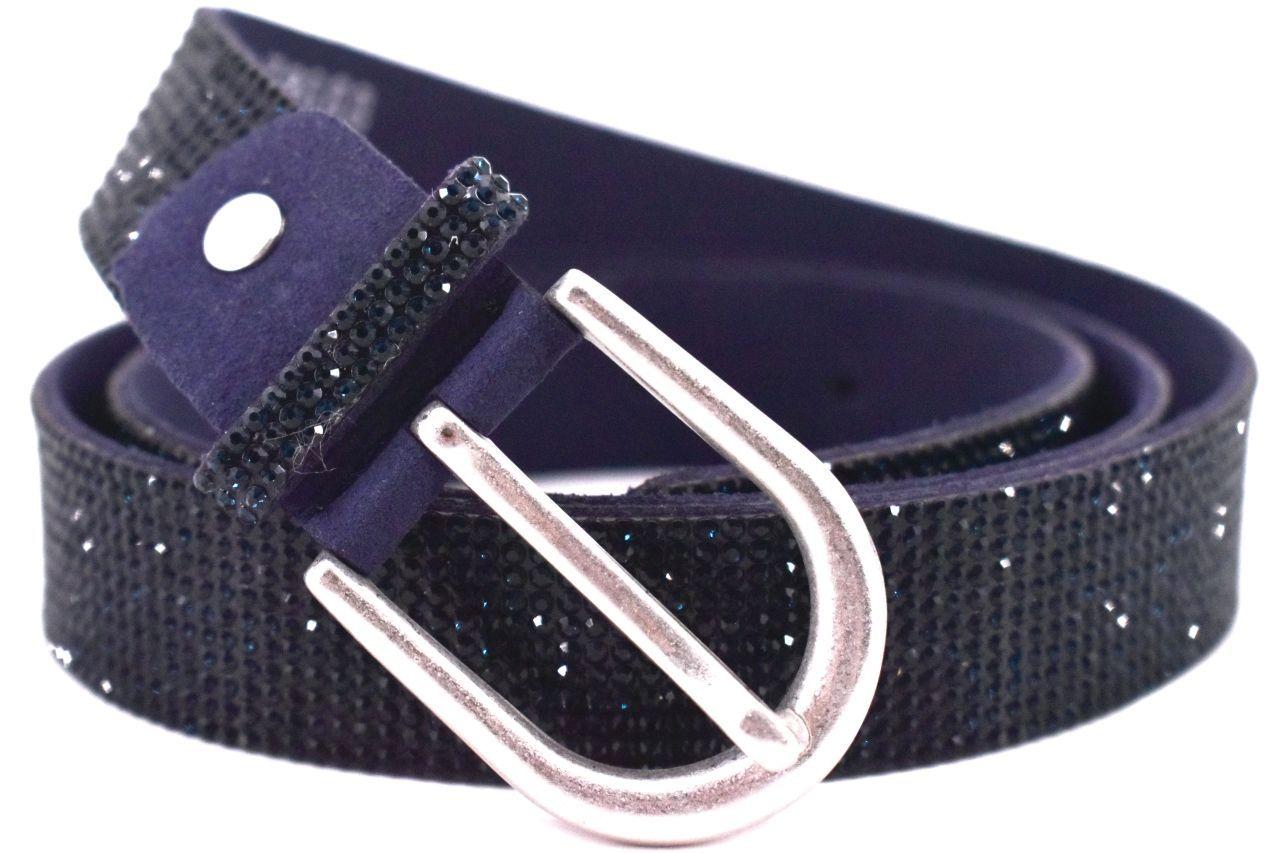 Dámský/dívčí štrasový opasek Arteddy - tmavě modrá 100 37157