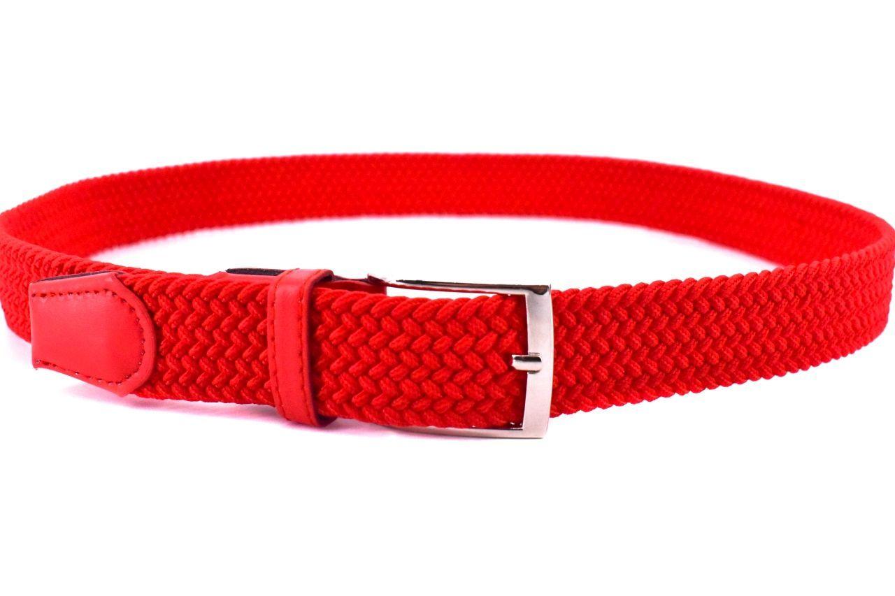 Jednobarevný elastický opasek Arteddy - světle červená/125 38506