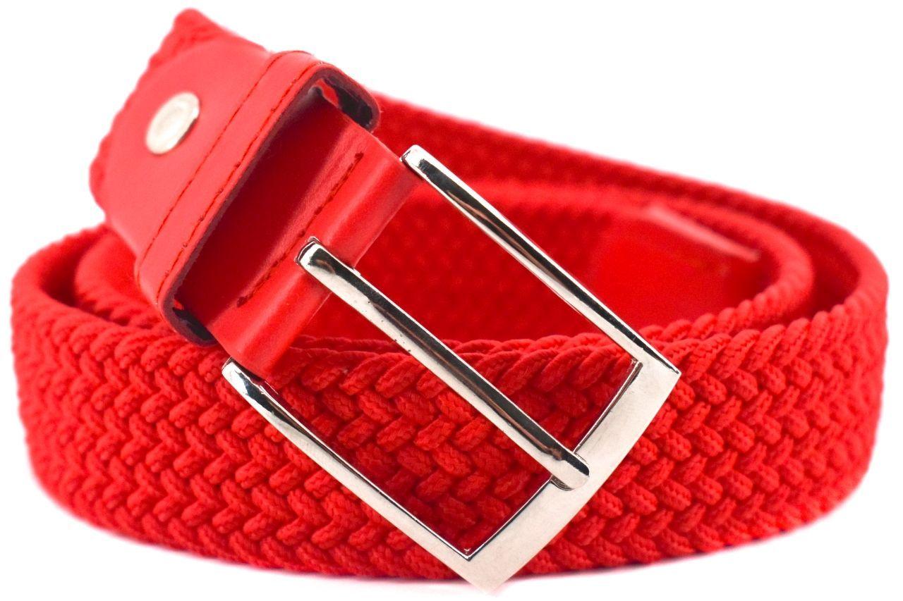 Jednobarevný elastický opasek Arteddy - světle červená/120 38506