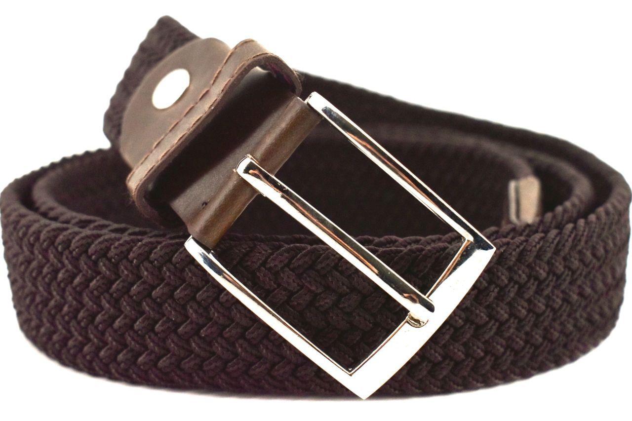 Jednobarevný elastický opasek Arteddy - tmavě hnědá/115 38506