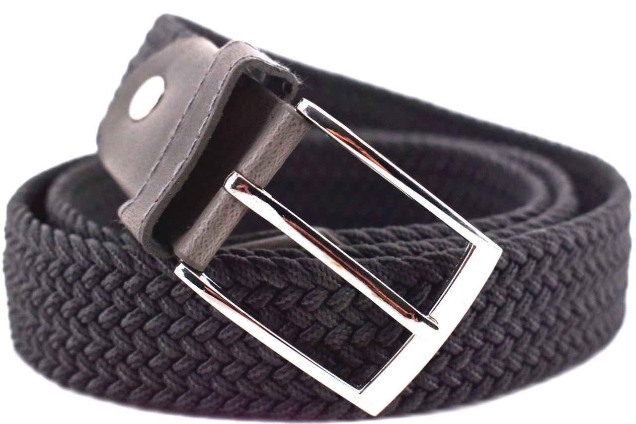 Jednobarevný elastický opasek Arteddy - tmavě šedá/125 38506