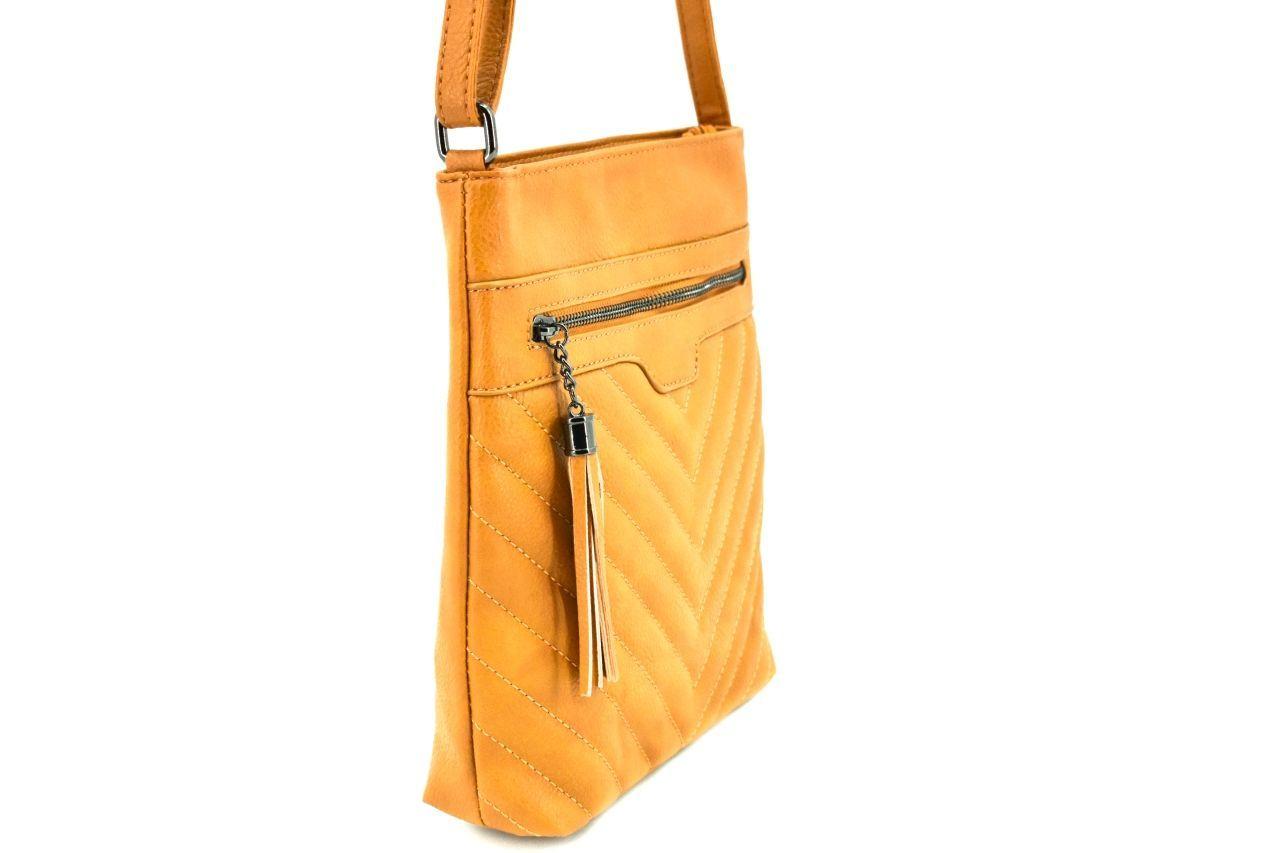 Dámská kabelka crossbody Herisson - žlutá 38019