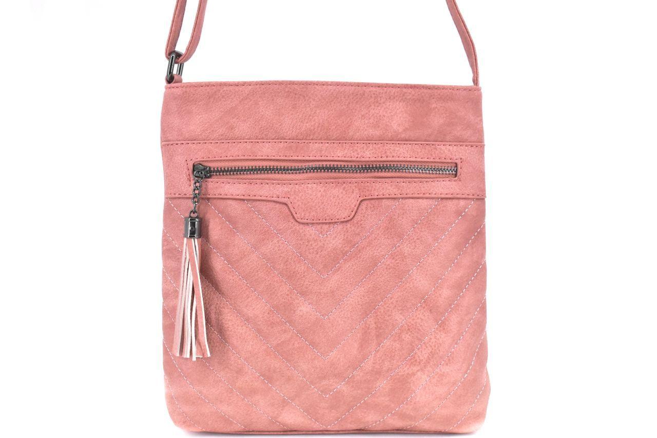 Dámská kabelka crossbody Herisson - růžová 38019
