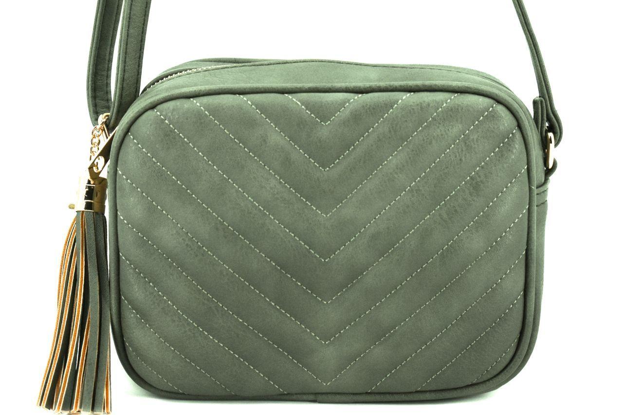 Dámská/dívčí prošívaná kabelka crossbody Herisson - zelená 38013