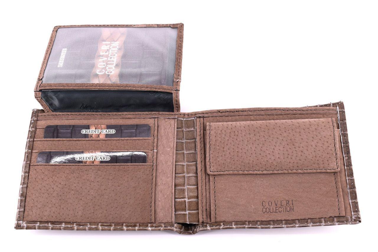 Pánská kožená peněženka Coveri Collection - hnědá 31741