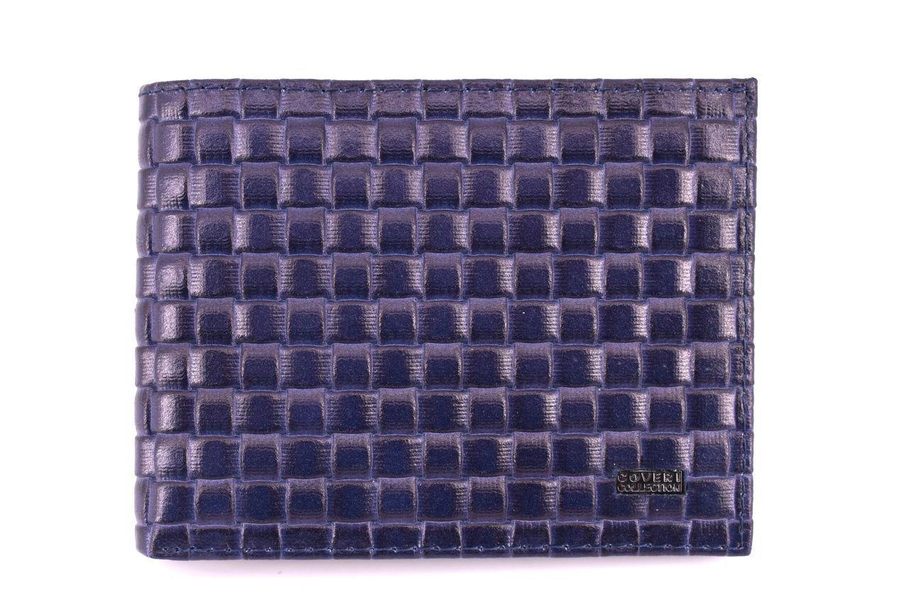 Pánská kožená peněženka Coveri Collection - modrá 31741