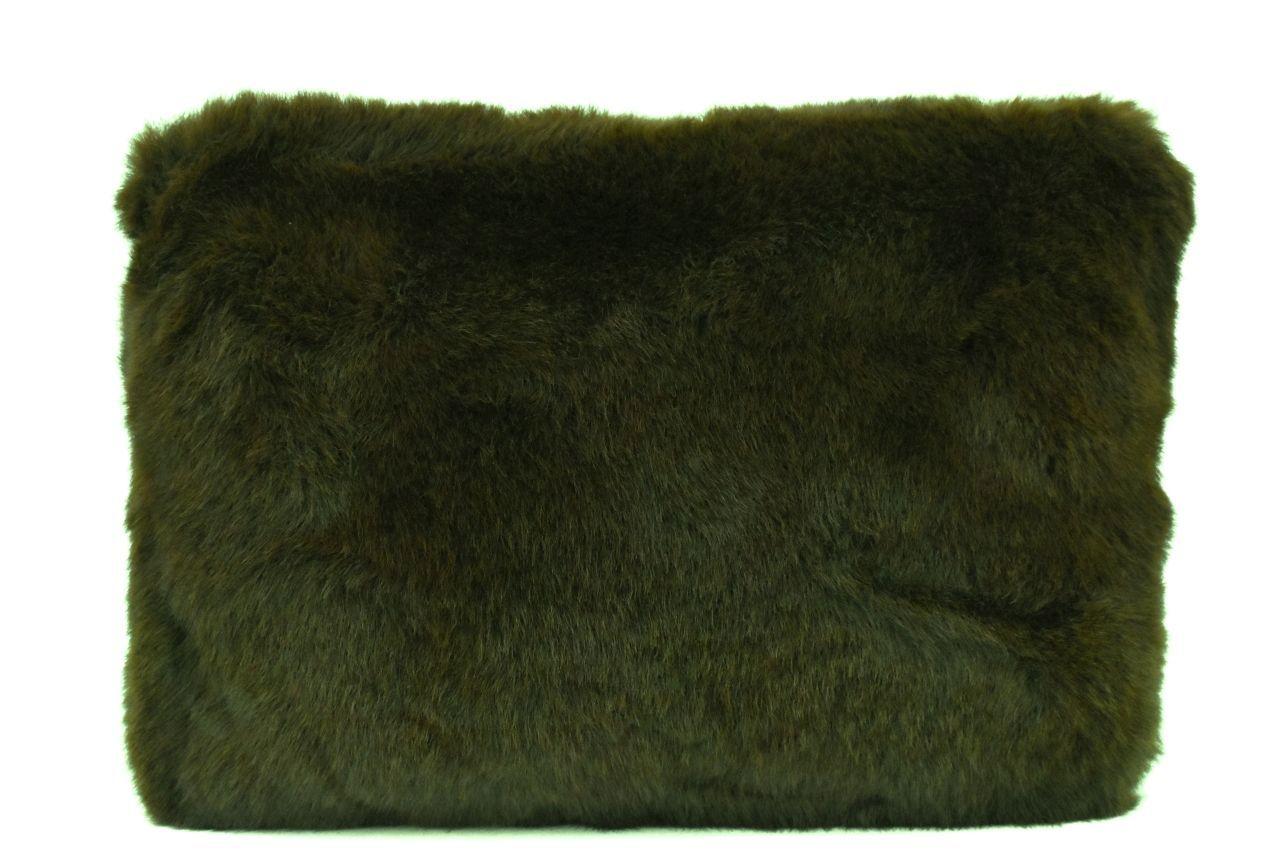 Dámská kabelka crossbody Melas / s umělé kožešiny - tmavě zelená 38752