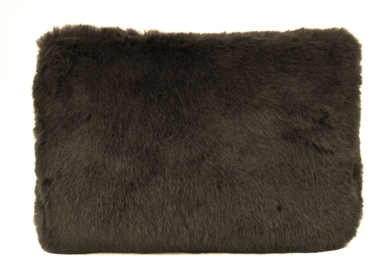 Dámská kabelka crossbody Melas / s umělé kožešiny - tmavě hnědá 38752