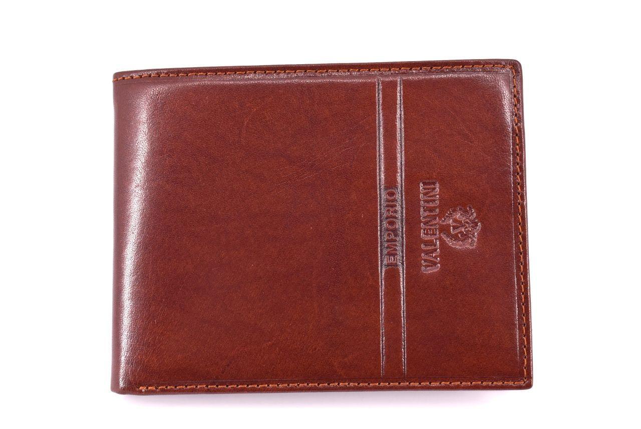 Pánská kožená peněženka Emporio Valentini - hnědá 42527