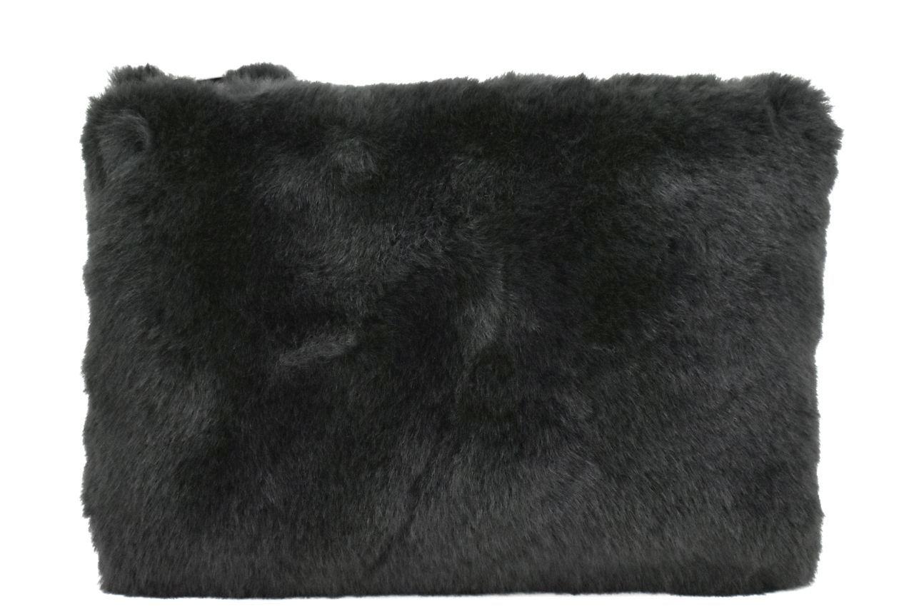 Dámská kabelka crossbody Melas / s umělé kožešiny - antracit 38752