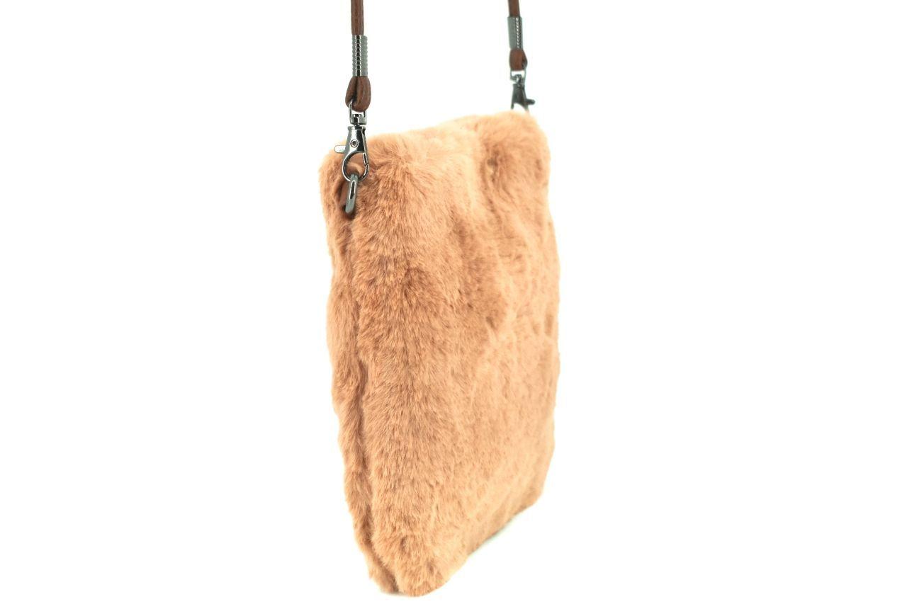 Dámská kabelka crossbody Herisson / s umělé kožešiny - béžová 38002