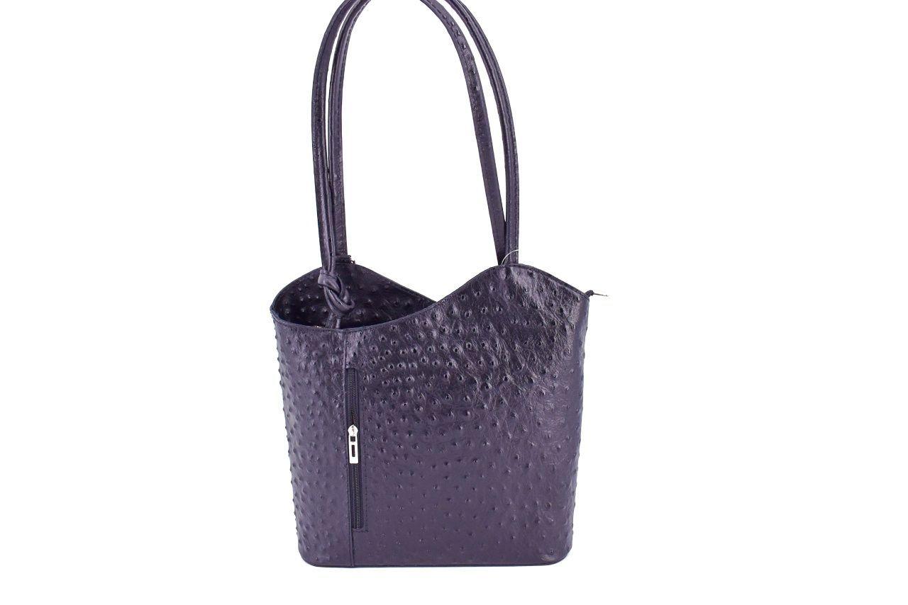 Dámská kožená kabelka/batůžek Arteddy - černá 31009