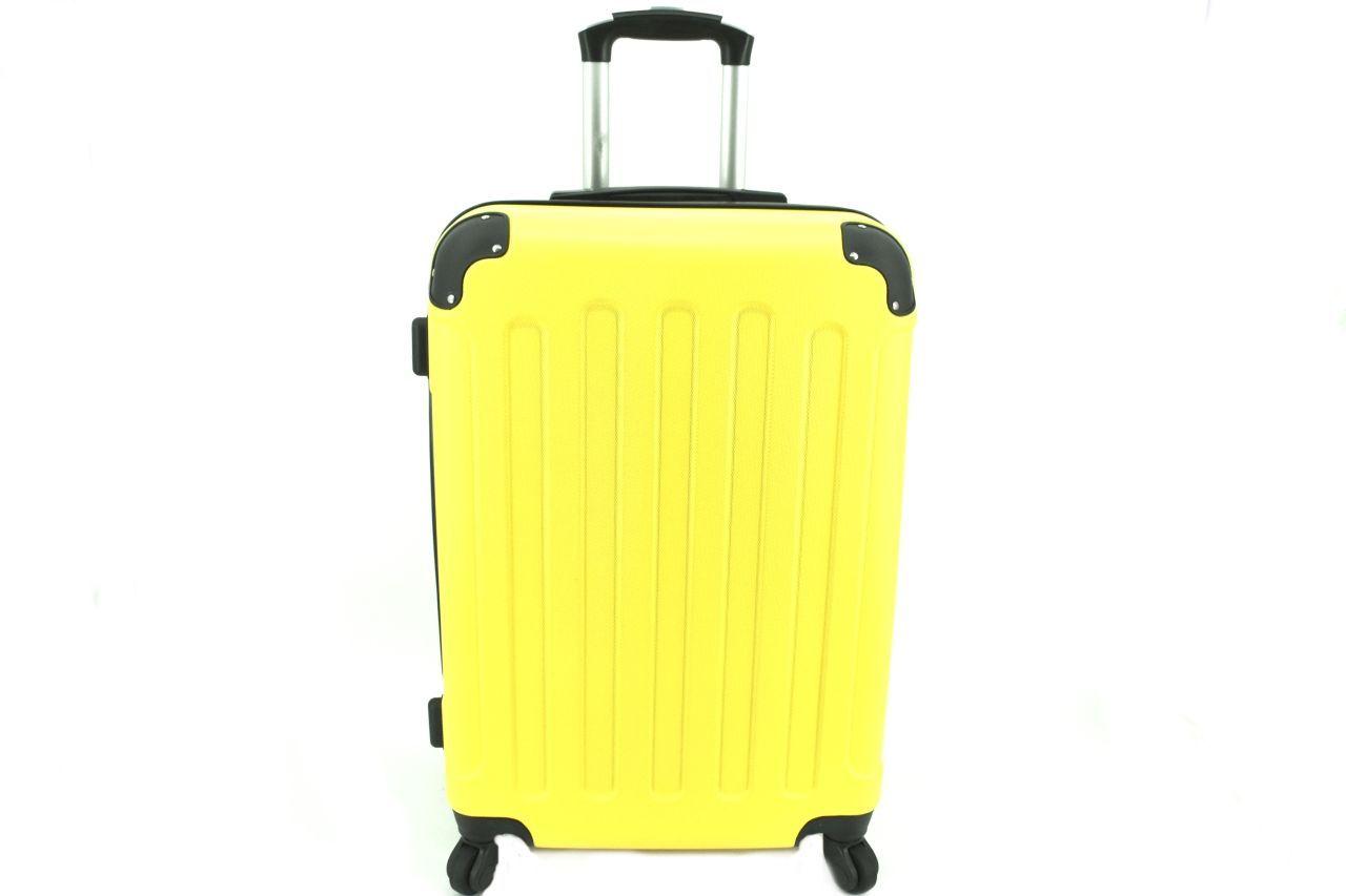 Cestovní palubní skořepinový kufr na čtyřech kolečkách Arteddy (XS) 30l - žlutá 6016 (XS)