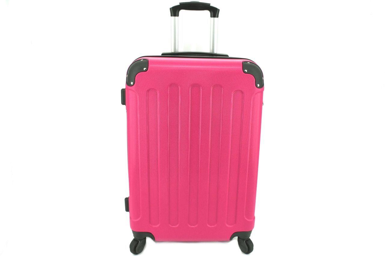 Cestovní palubní skořepinový kufr na čtyřech kolečkách Arteddy (XS) 30l - fuxia 6016 (XS)