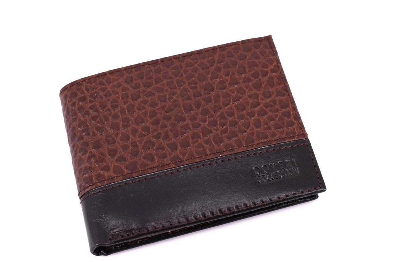 Pánská kožená peněženka Coveri Collection - šedá 32149