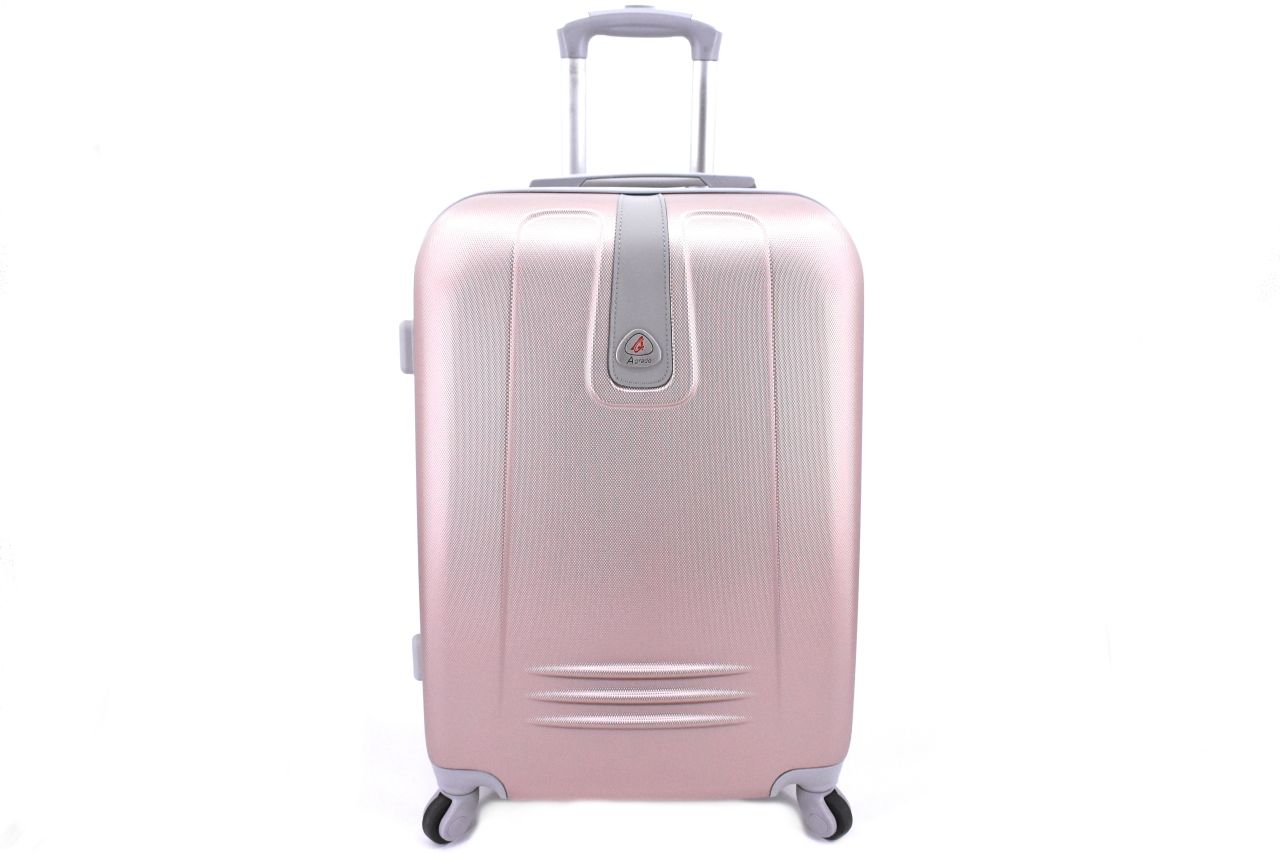 Cestovní kufr Agrado / 4 kolečka - světle růžová (L) 90l 6168 (L)