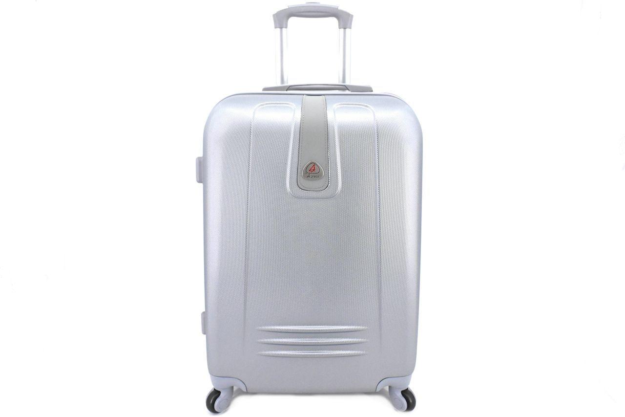 Levně Cestovní kufr Agrado / 4 kolečka - stříbrná (L) 90l