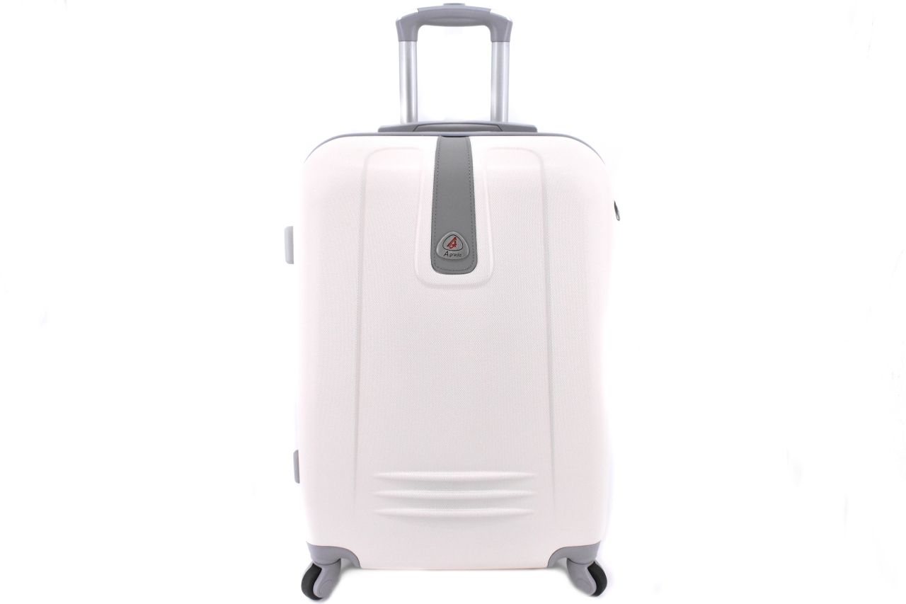 Cestovní kufr Agrado / 4 kolečka - krémová (L) 90l 6168 (L)