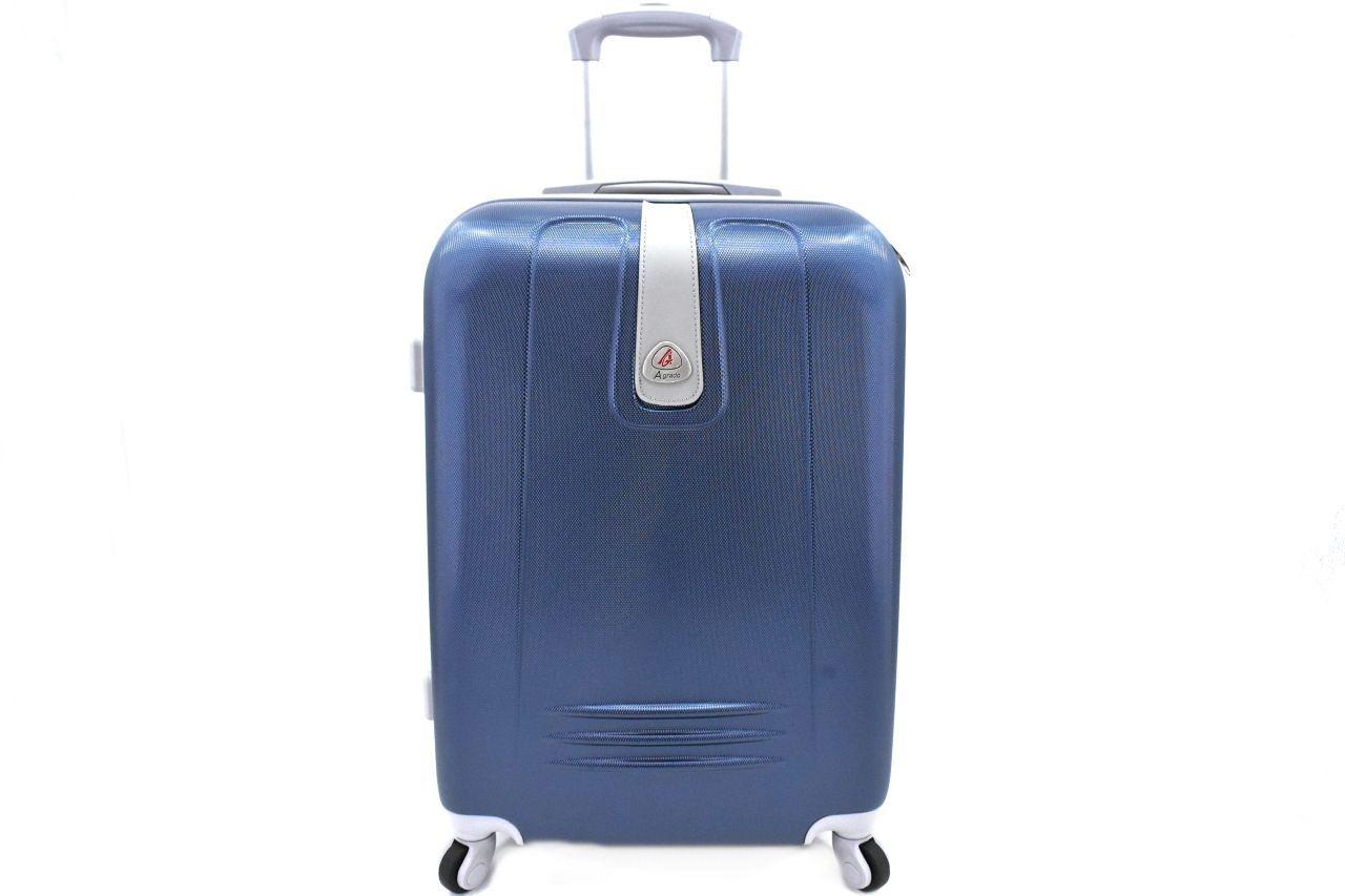 Cestovní kufr Agrado / 4 kolečka - tmavě modrá (L) 90l 6168 (L)