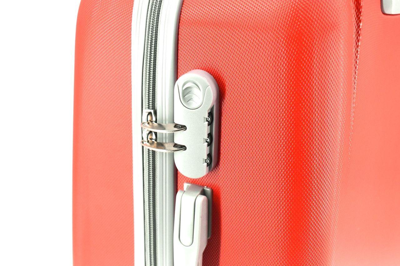 Cestovní palubní kufr Agrado / 4 kolečka - světle růžová (XS) 30l 6168 (XS)