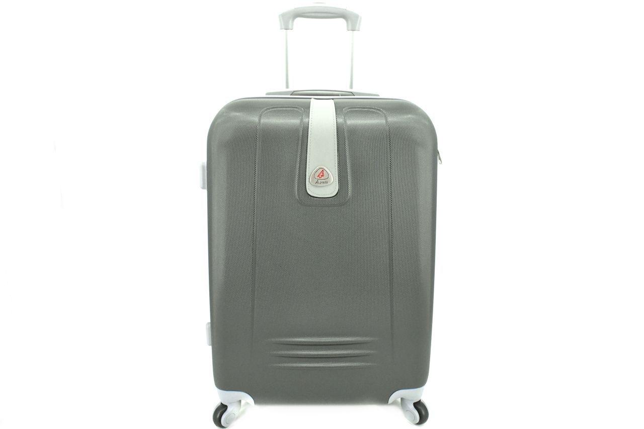 Cestovní palubní kufr Agrado / 4 kolečka - tmavě šedá (XS) 30l 6168 (XS)