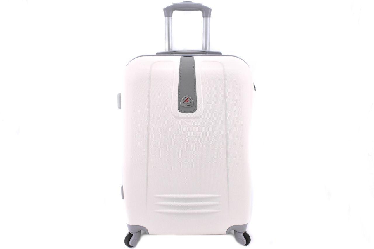 Cestovní palubní kufr Agrado / 4 kolečka - krémová (XS) 30l 6168 (XS)