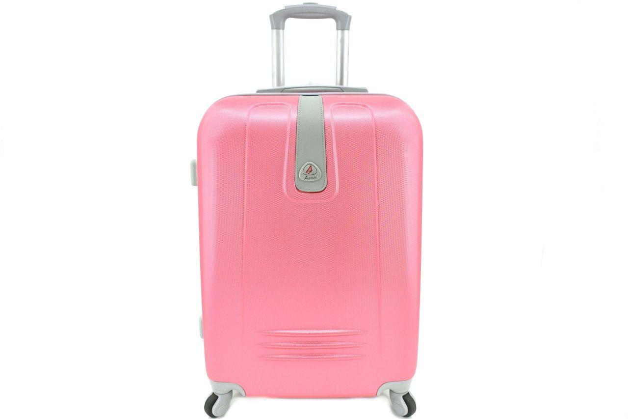 Cestovní palubní kufr Agrado / 4 kolečka - růžová (XS) 30l 6168 (XS)