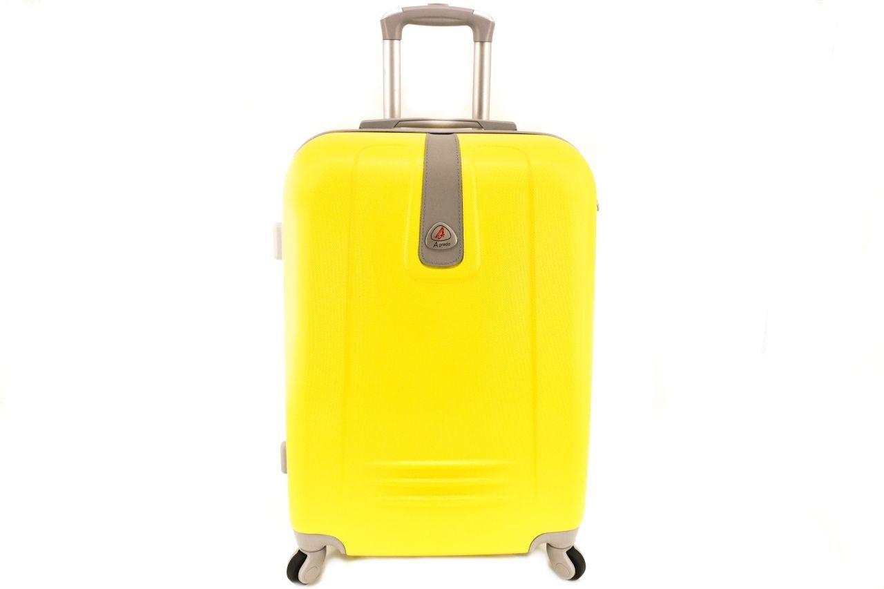 Cestovní palubní kufr Agrado / 4 kolečka - žlutá (XS) 30l