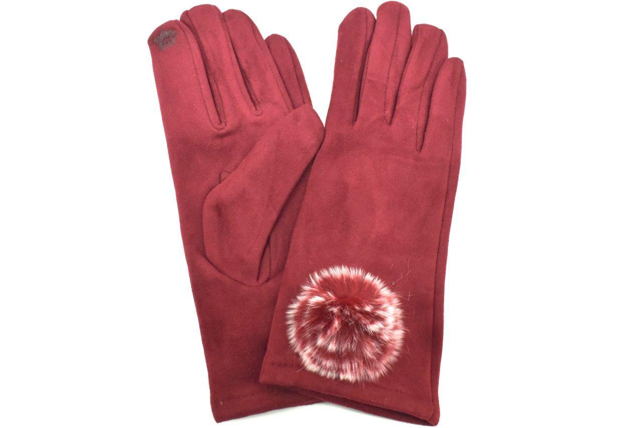 Levně Dámské zateplené rukavice Arteddy - vínová