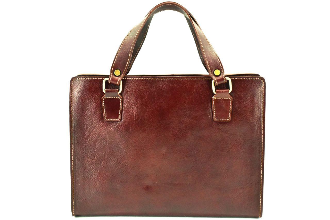 Dámská kožená kabelka/aktovka Arteddy - hnědá 29639
