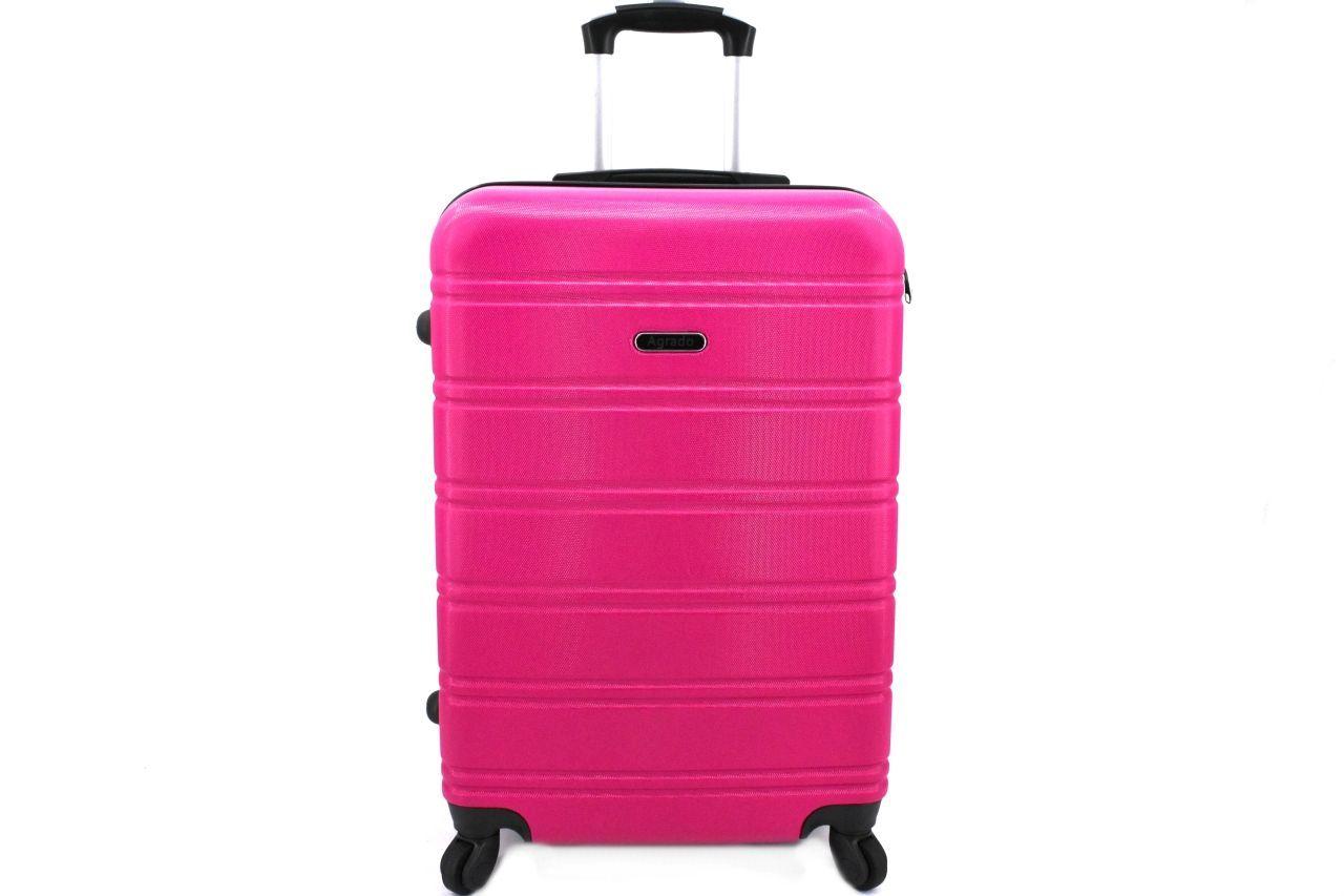 Cestovní kufr skořepinový na čtyřech kolečkách Agrado (M) 60l - fuxia 6019 (M)