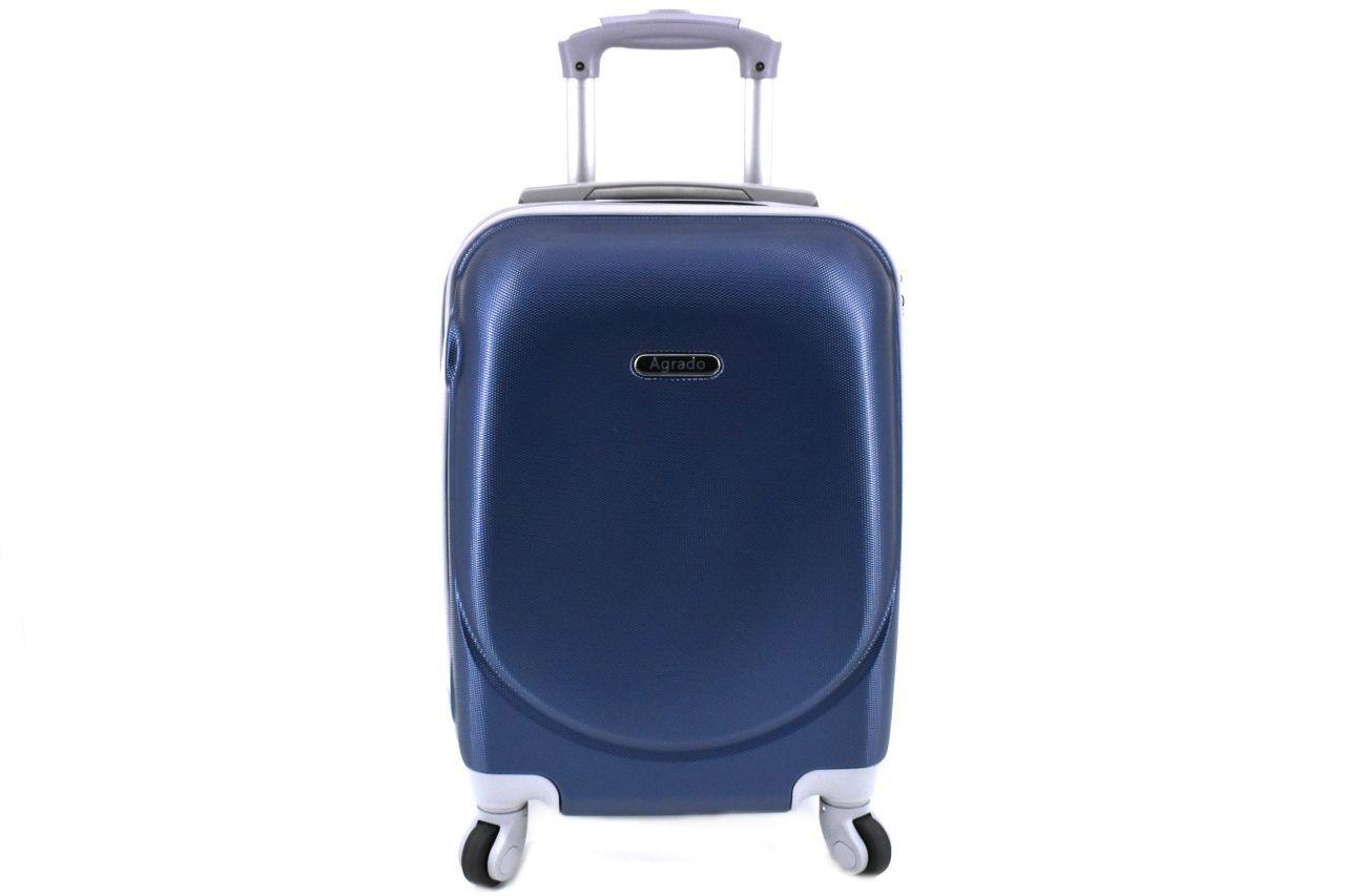 Cestovní kufr skořepinový na čtyřech kolečkách Agrado (M) 60l - tmavě modrá 6011 (M)