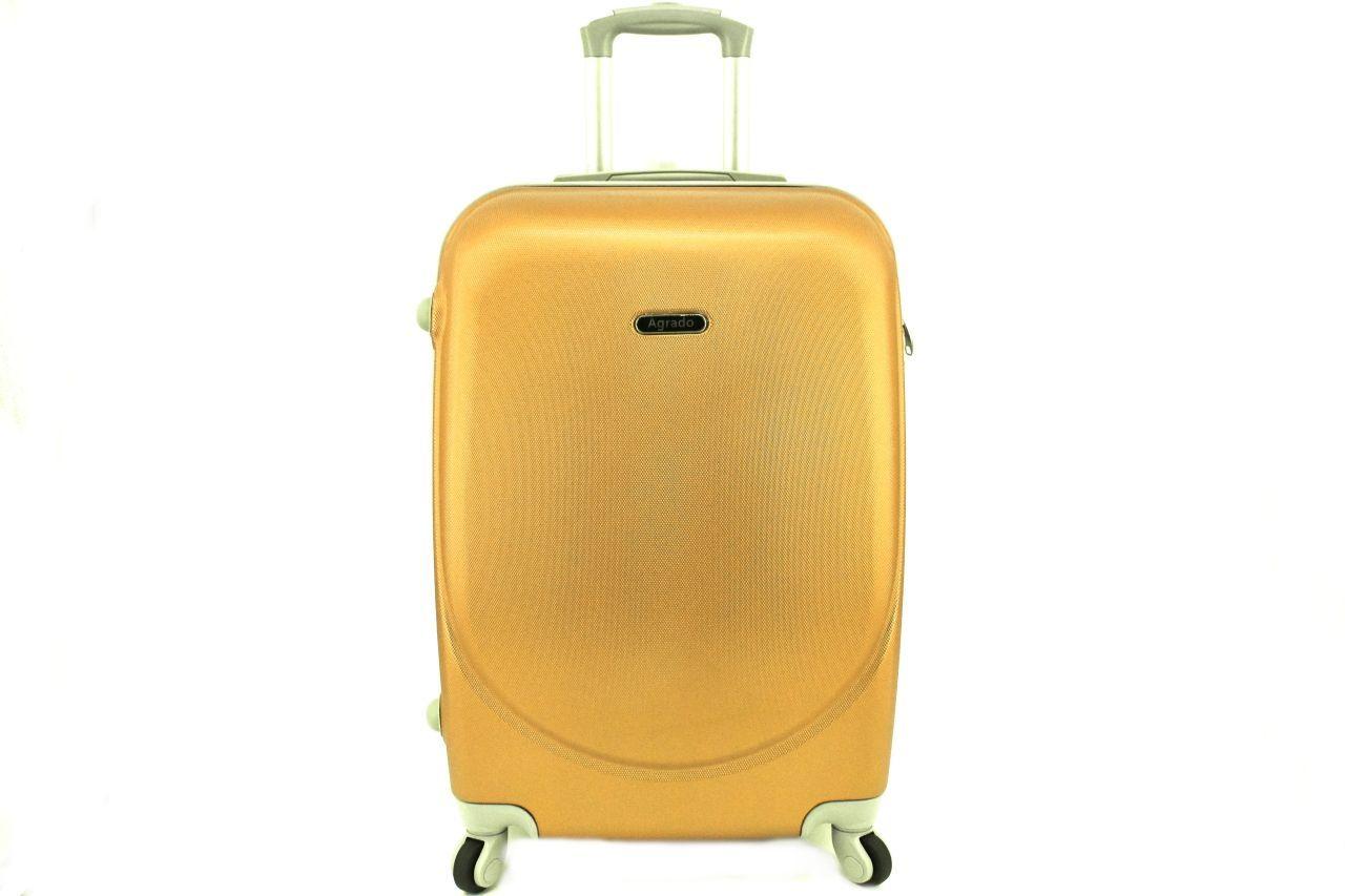 Cestovní palubní kufr skořepinový na čtyřech kolečkách Agrado (XS) 30l - zlatá 6011(XS)