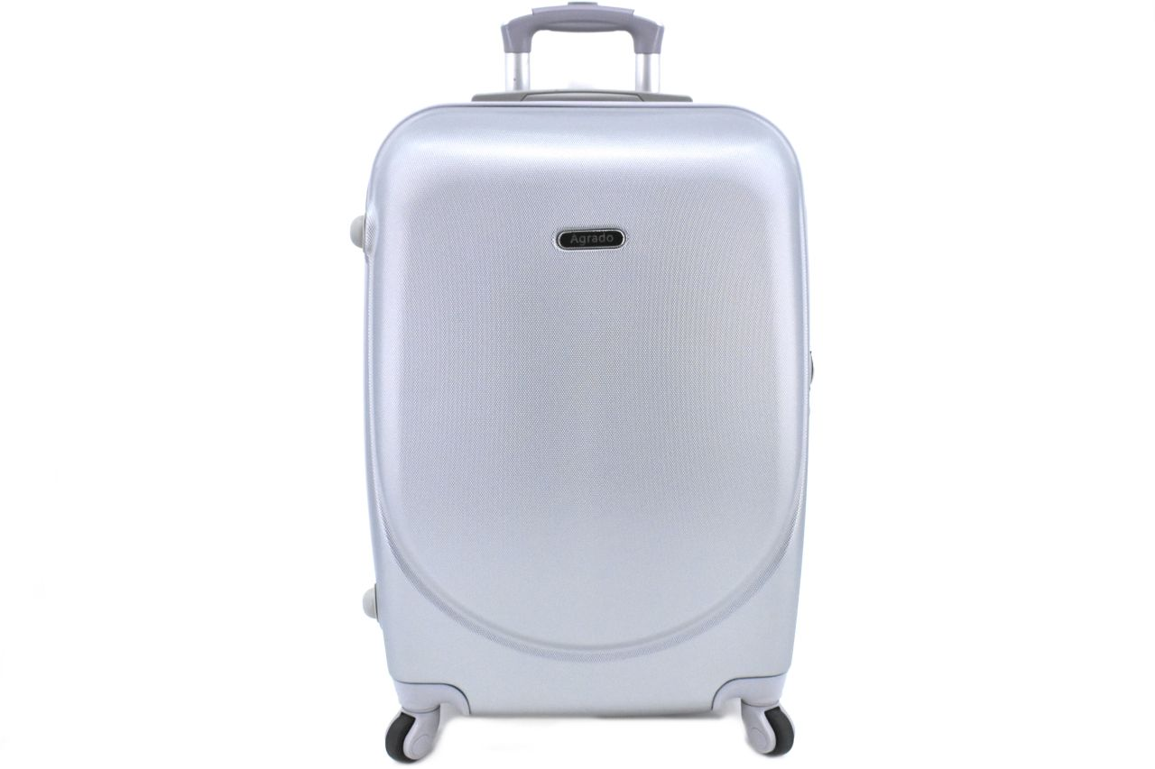 Cestovní palubní kufr skořepinový na čtyřech kolečkách Agrado (XS) 30l - stříbrná 6011(XS)