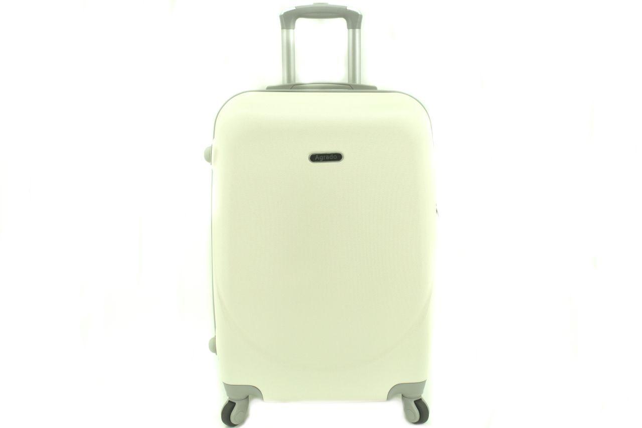 Cestovní palubní kufr skořepinový na čtyřech kolečkách Agrado (XS) 30l - krémová 6011(XS)