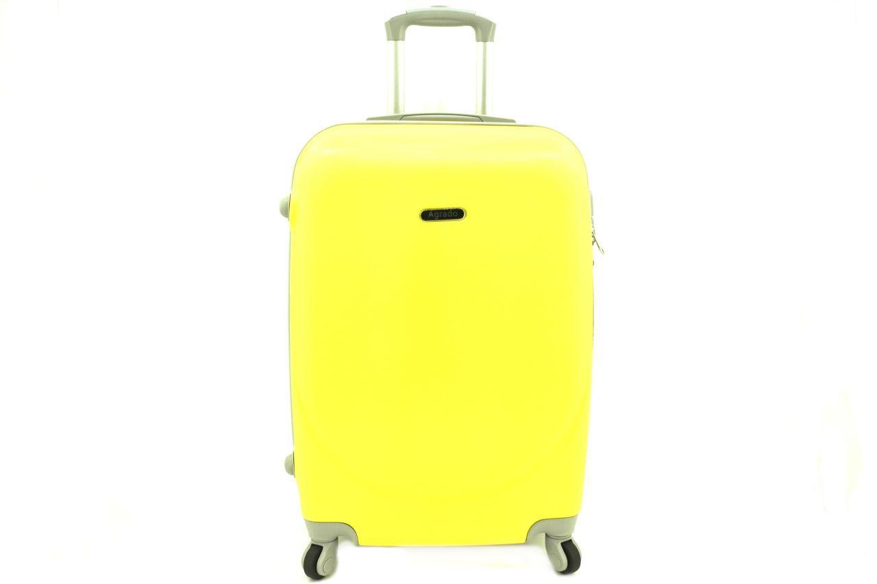 Cestovní palubní kufr skořepinový na čtyřech kolečkách Agrado (XS) 30l - žlutá 6011(XS)