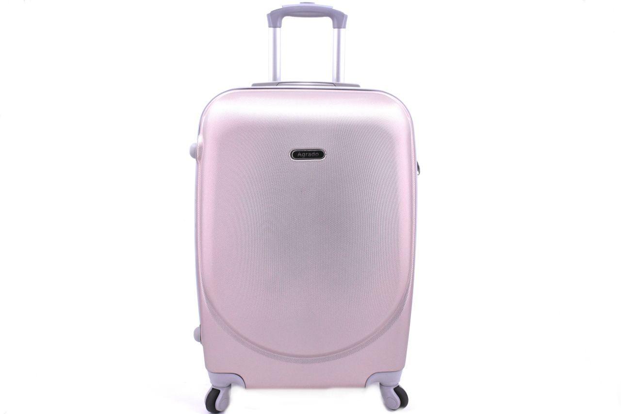 Cestovní palubní kufr skořepinový na čtyřech kolečkách Agrado (XS) 30l - světle růžová 6011(XS)