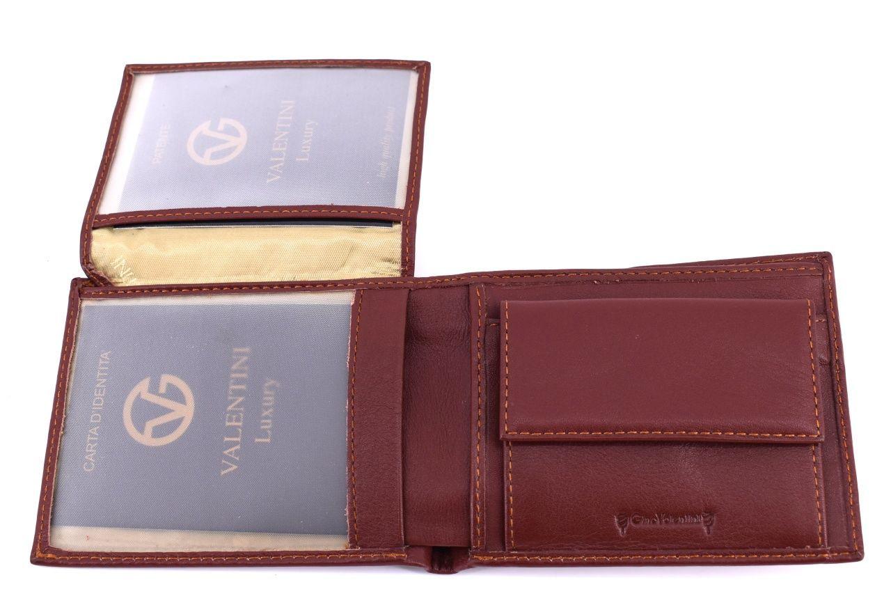 Pánská kožená peněženka Valentini - hnědá 39520