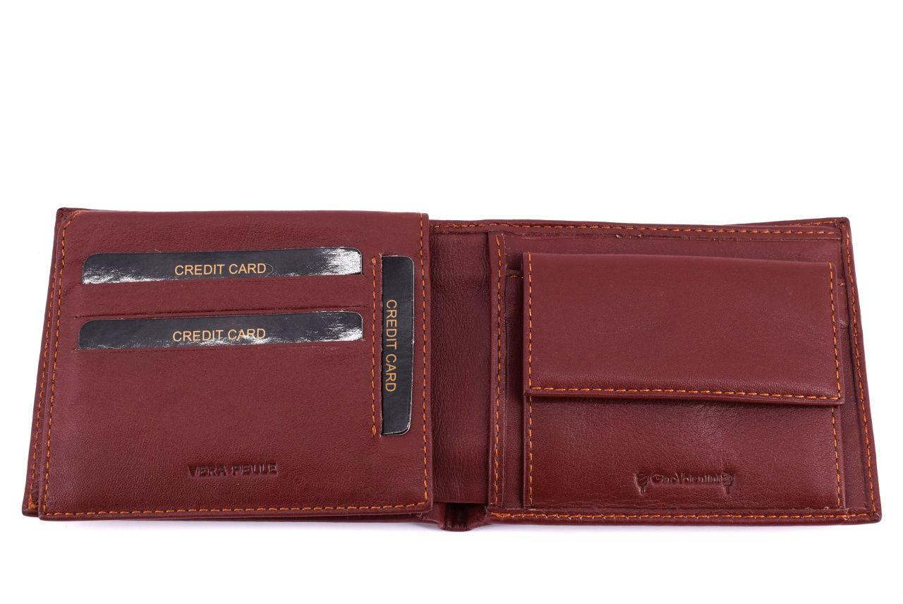 Pánská kožená peněženka Valentini - tmavě hnědá 39520