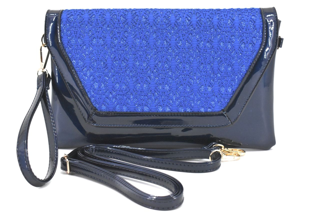 Dámská kabelka psaníčko - modrá 30764