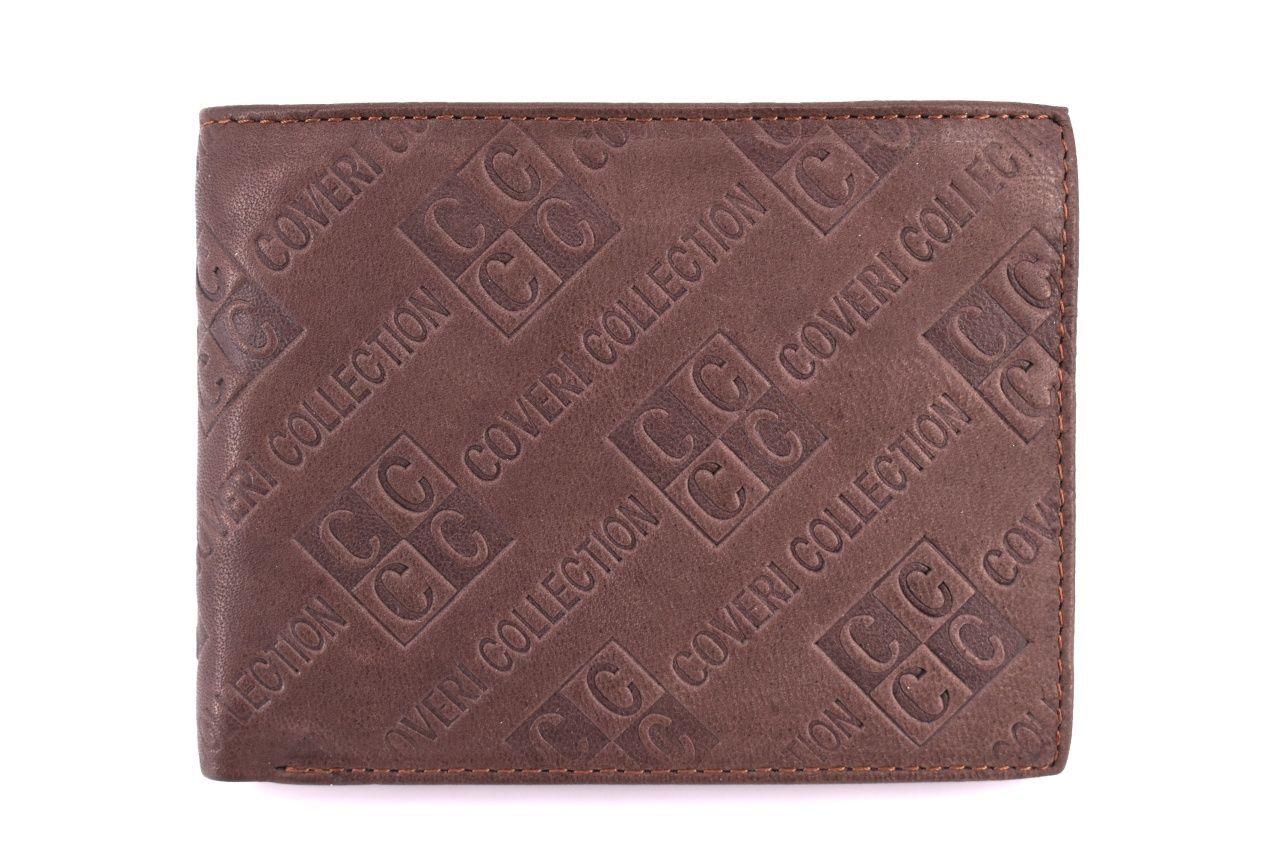 Pánská kožená peněženka Coveri Collection - hnědá 31755