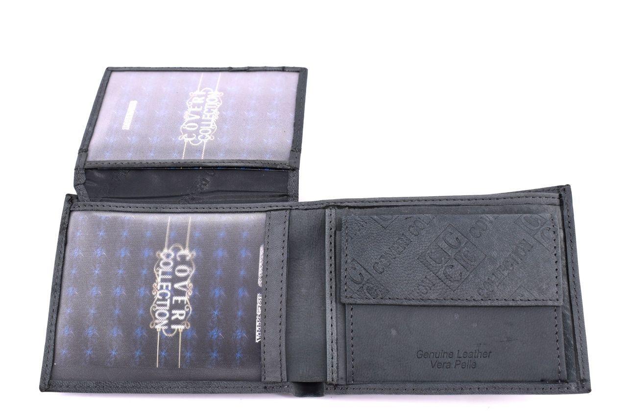 Pánská kožená peněženka Coveri Collection - černá 31755