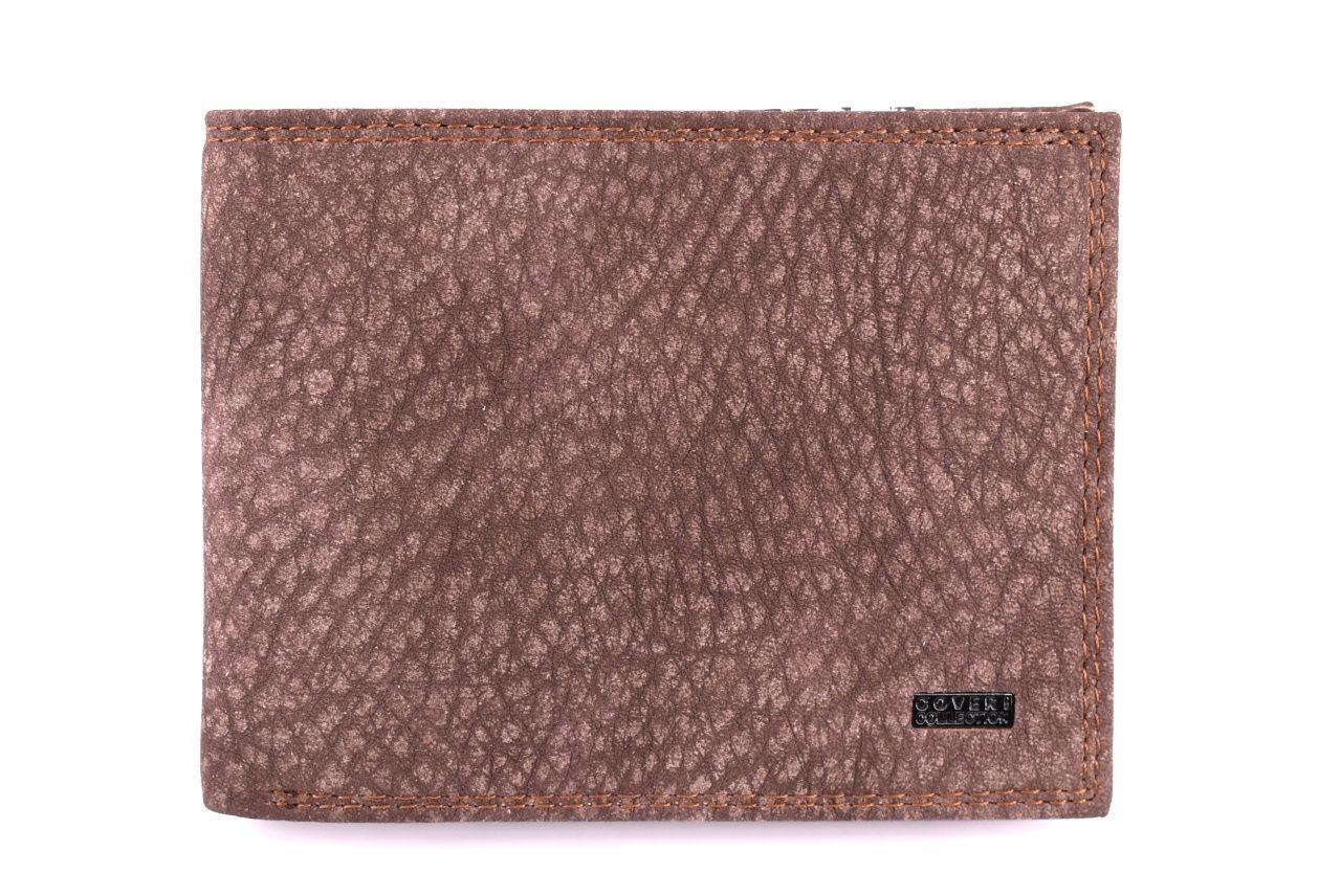 Pánská kožená peněženka Coveri Collection - hnědá 32613