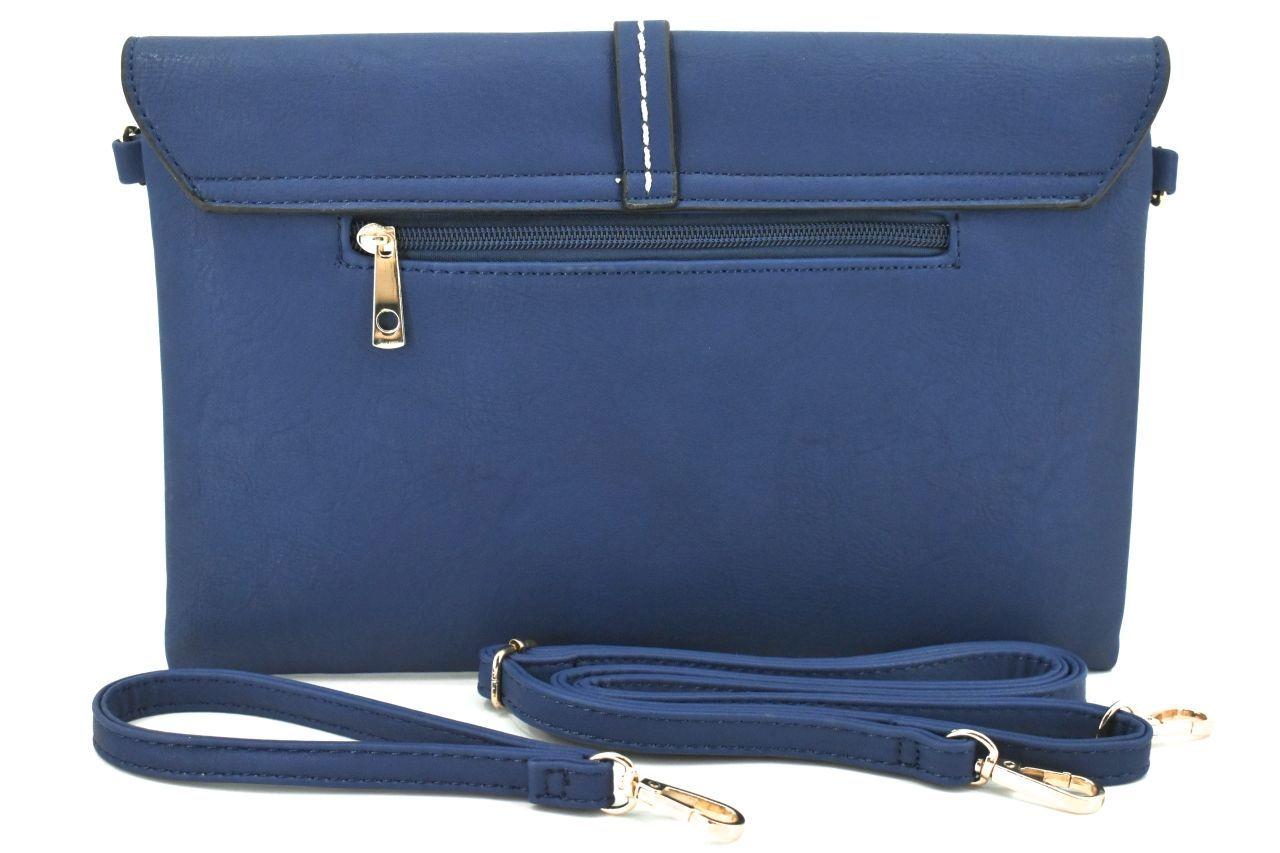 Dámská kabelka psaníčko - tmavě modrá 31987