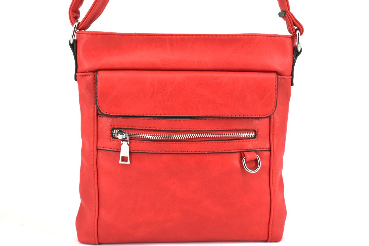 Dámská/dívčí kabelka crossbody - červená 36044