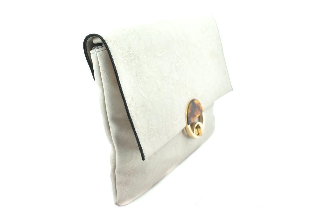Dámská kabelka /psaníčko s klopnou - krémová 27195