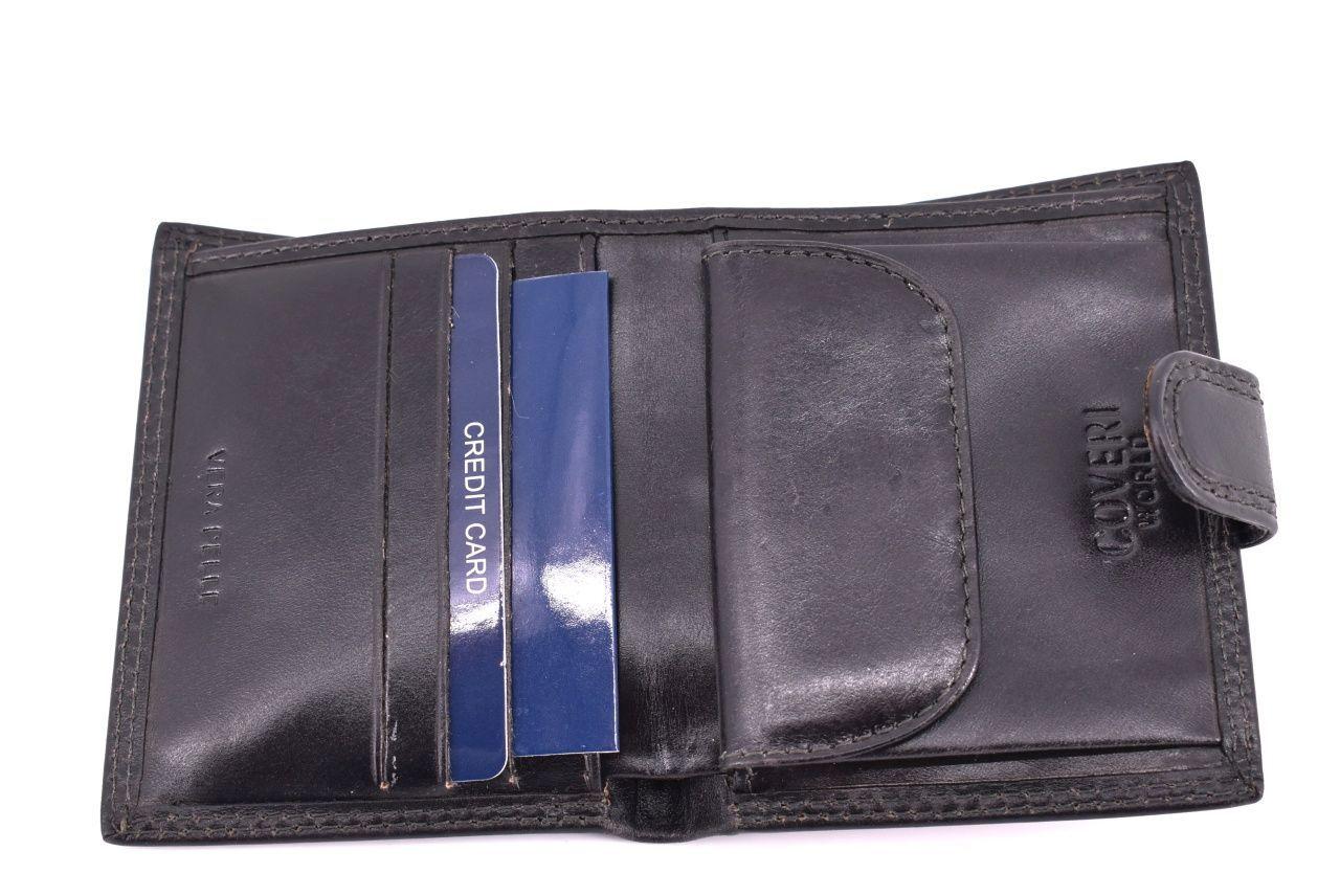 Pánská kožená peněženka Coveri World - hnědá 32157