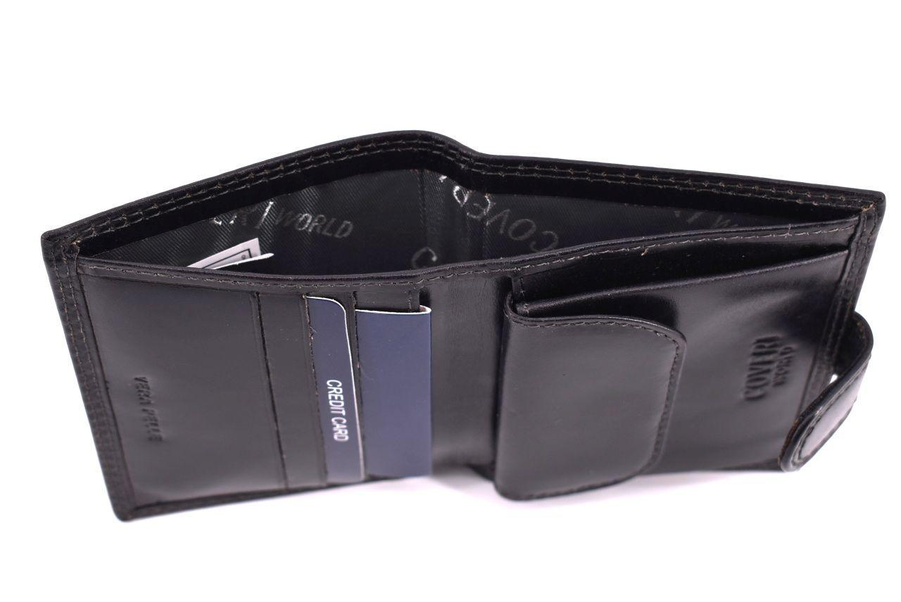 Pánská kožená peněženka Coveri World - černá 32157