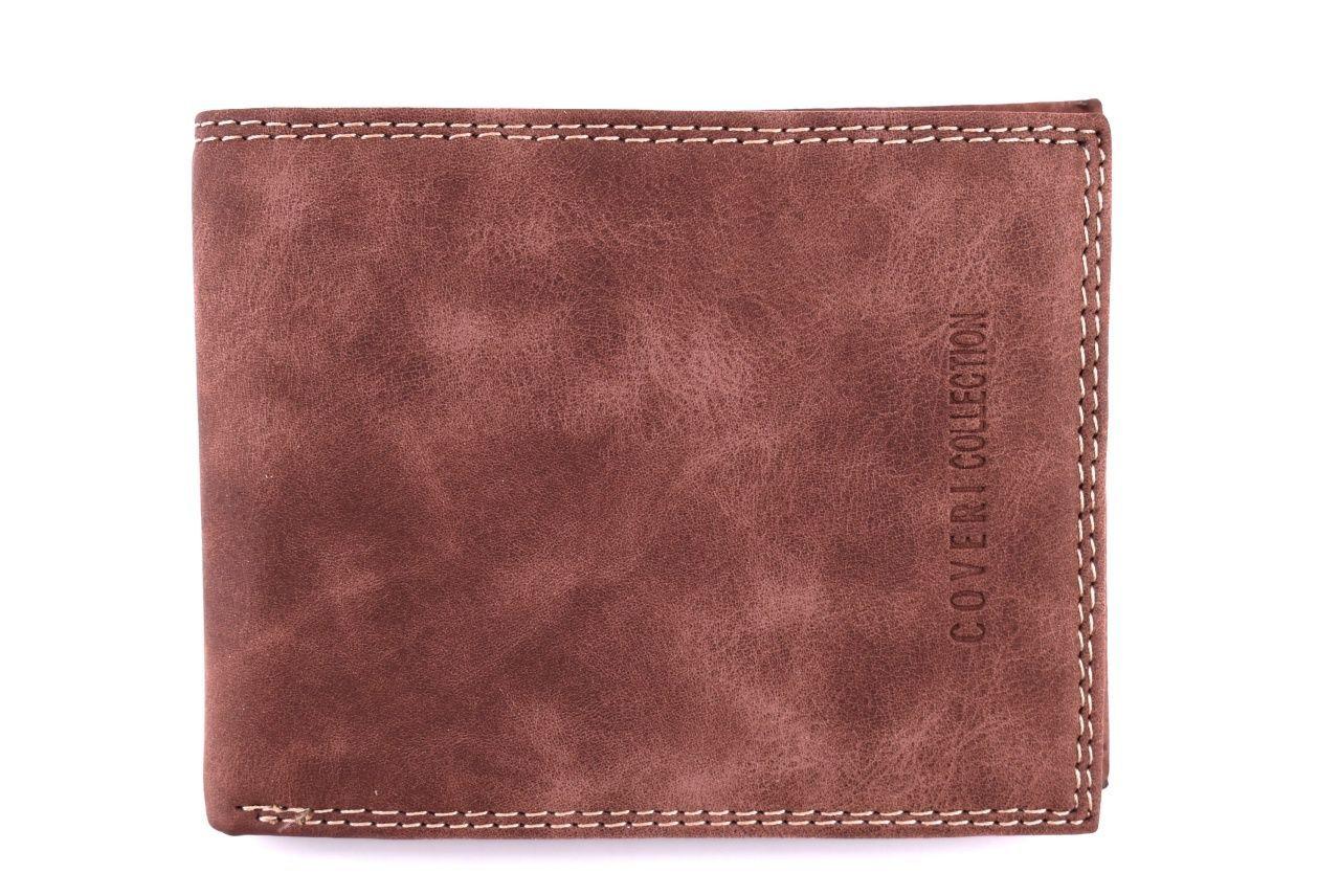 Pánská kožená peněženka Coveri Collection - hnědá 32615